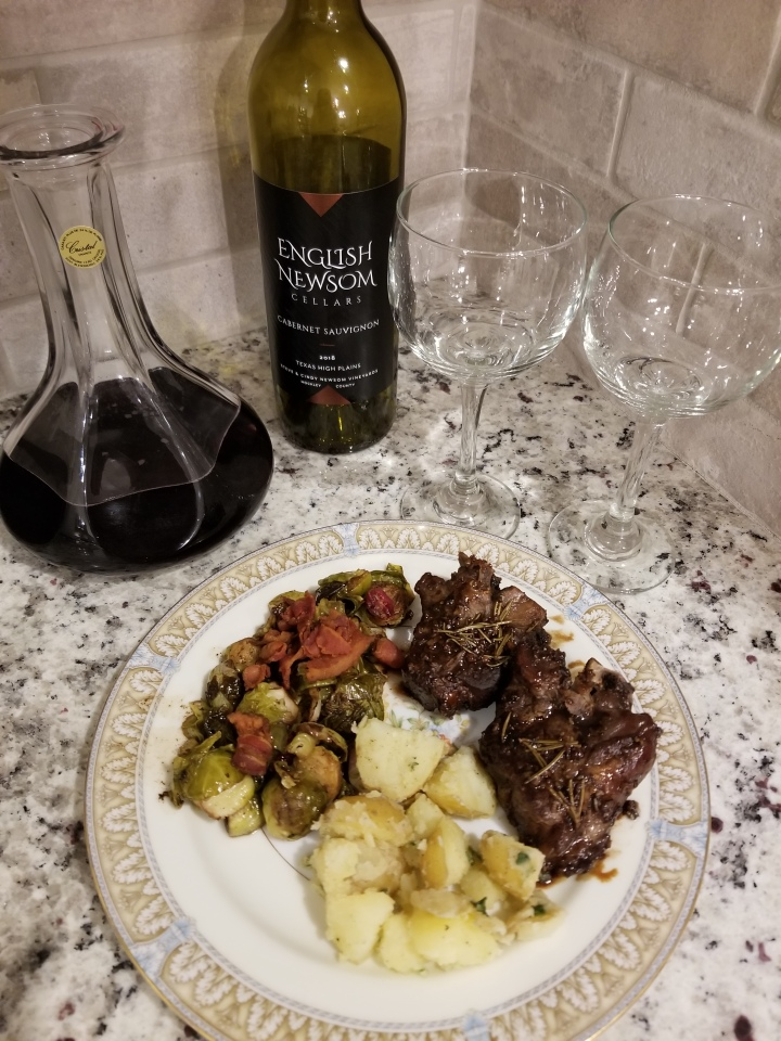 Wine Pairing Wednesday: Cabernet Sauvignon and Balsamic Glazed Lamb Chops
