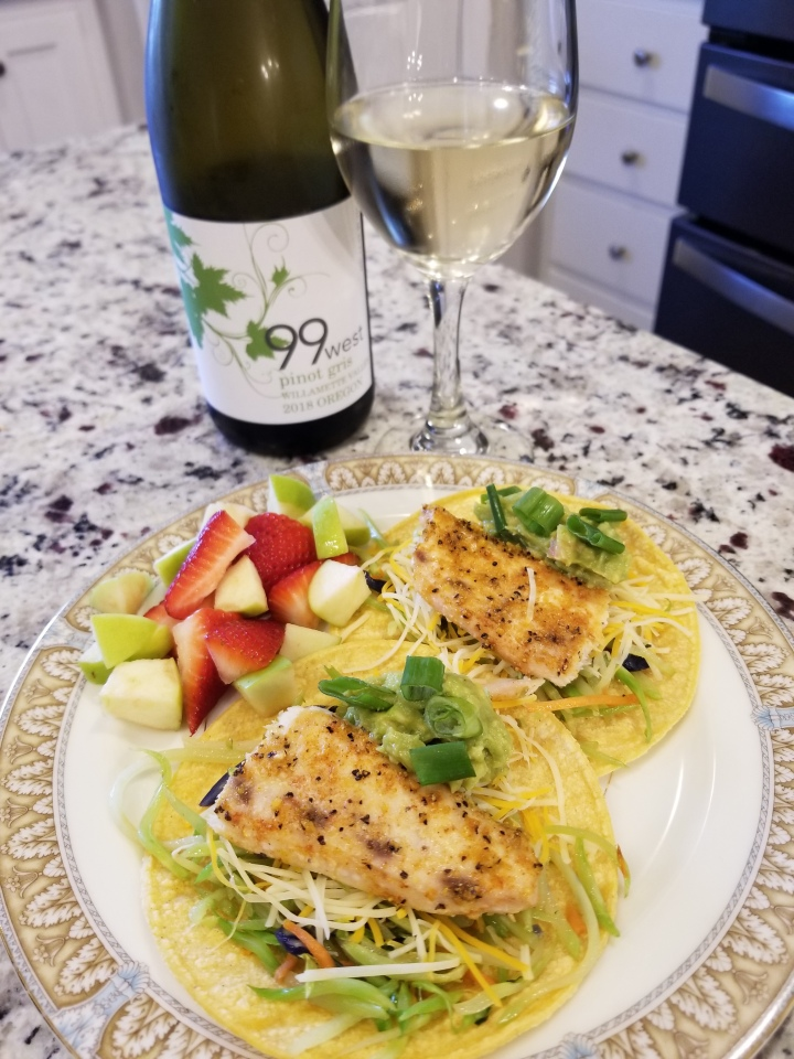 Wine Pairing Wednesday: Pinot Gris and Mahi Mahi Fish Tacos